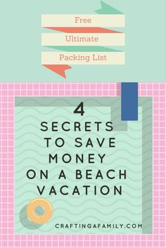 I have used these tips for 20 years and we have saved a lot of money on our family vacations.  You will also reduce your stress on vacation and enjoy Your vacation with the family.