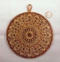 Mandala Pyrography Art Sacred Geometry Buddhist by BurntBirch