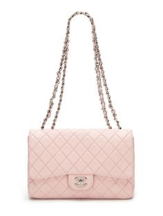 Chanel Baby Pink Quilted Lambskin Jumbo