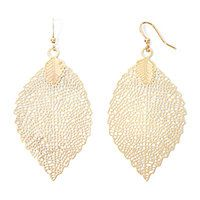 The Boutique Gold-Tone Leaf Drop Earrings - The Boutique Gold-Tone Leaf Drop Earrings