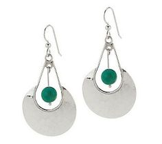 Dominique Dinouart Sterling Hammered Drop Earrings