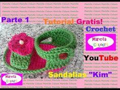 "Crochet Sandalias Bebe Primavera - Verano ""Kim"" (Parte 1) por Maricita Colours - YouTube"