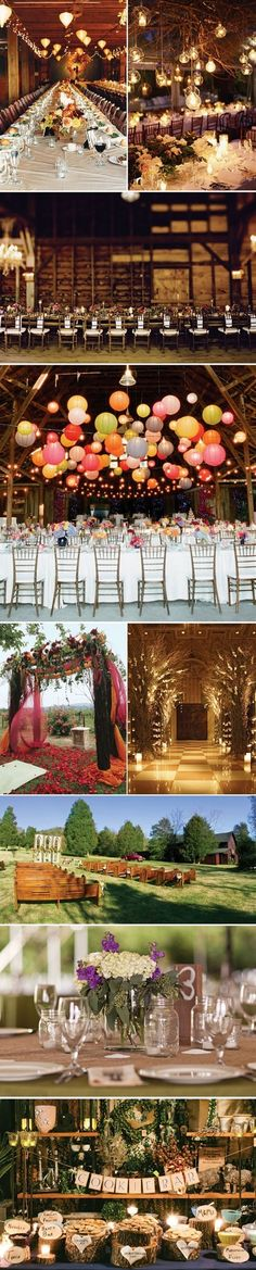 Vintage wedding decor style...rustic, vintage, high drama, pure romance, and whimsical trends