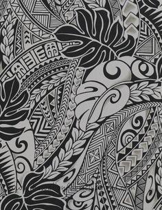Polynesian Tribal fabric #tattoos #Hawaiian #fabric #tribaltattoo #polynesian #sewing #etsy #lavalava #luau #warriors #islandfabric #samoa