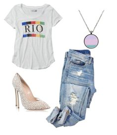 """""""RO😵"""" by lady-shadylady ❤ liked on Polyvore featuring beauty, Abercrombie & Fitch and Casadei"""