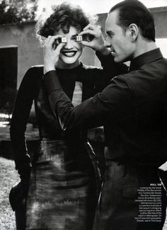 Natalia Vodianova and Michael Fassbender by Craig McDean, Styled by Grace Coddington, for Vogue US May 2012