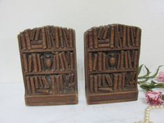Bookends Library Shelves Design by LuRuUniques on Etsy