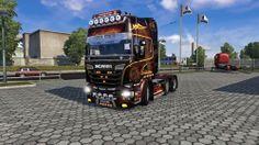 Euro Truck Simulator 2 Scania Ateşli Modifiye Paketi
