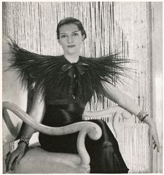 Elsa Schiaparelli, Mrs. Reginald Fellowes in Elsa Schiaparelli ensemble