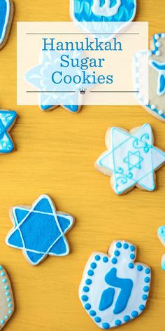 Break out your cookie cutters and let the fun begin! Our Hanukkah Sugar Cookie d. Break out your cookie cutters and let the fun begin! Our Hanukkah Sugar Cookie dough is easy to mak Hannukah Cookies, Jewish Cookies, Iced Cookies, Holiday Cookies, Sugar Cookies, Frosted Cookies, Feliz Hanukkah, Hanukkah Food, Easy Hanukkah Recipes