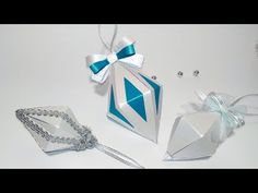 Super EASY Christmas tree ornaments from paper. Ideas for Christmas decorations Unique paper diamond ornament for Christmas tree. Today Ive created another cute and elegant Christmas ornaments! You can put treats inside! Theyre made of card stock Paper Christmas Decorations, Christmas Paper Crafts, Paper Ornaments, Simple Christmas, Diy Christmas Ornaments, Elegant Christmas, Christmas Christmas, Paper Diamond, Diamond Decorations
