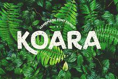 Koara / handmade font family - Script