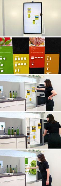 Categoria: 3 / Tags: fridge, system / Descrição: Protótipo real de geladeira inteligente, que sabe quando a comida está para estragar.