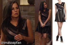I'm a Soap Fan: Sam Morgans's Black Striped Lace Dress - General Hospital, Season 52, Episode 199, 01/16/15 #GH #GeneralHospital #Wardrobe