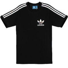 Adidas Sport Essentials Tee Mens AB7606 Black White Slim Fit T-Shirt Top Size XL