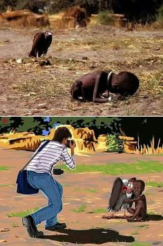 Kevin Carter's Pulitzer Prize-winning photo Kevin Carter, Napalm Girl, Funeral Pyre, Meaningful Pictures, Image Form, Innocent Child, Japanese Boy, Iconic Photos, Creative Advertising