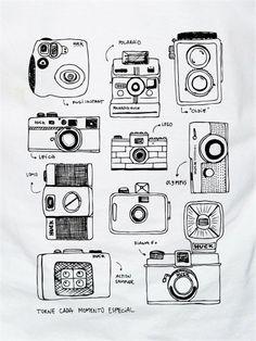 Camiseta Huck Masc. Câmeras Branca - Masculino
