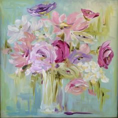 Abstract Spring Bouquet - by Susan Pepe