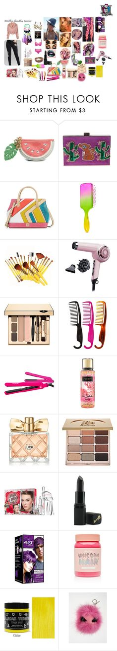 """""""Monster High: Urban Decay Moanica Inspired Look"""" by mimi-world on Polyvore featuring See by Chloé, GEDEBE, Kate Landry, Forever 21, Remington, Clarins, Goody, Lorion, Victoria's Secret and Avon"""