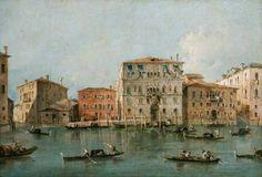 Francesco Guardi – National Museum Cardiff NMW A 29601. View of the Palazzo Loredan dell'Ambasciatore on the Grand Canal, Venice (c. 1775-1785)