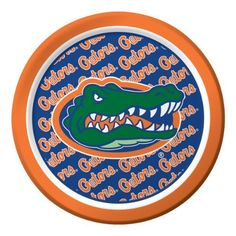 """Creative Converting Florida Gators Dessert Paper Plates (8 Count) by Creative Converting. $5.23. See Creative Converting's coordinating line of party favors and dinnerware - inflatable fingers, wrist bands, head bands, pom poms, cheer sticks, cups, plates, napkins, chip trays and décor. 8 count. Collegiate NCAA team logo dessert paper plates. Measures 7"""" diameter. The perfect supplies for your tailgating, Bowl game or sports themed party - show your team spirit and pride. From ..."""