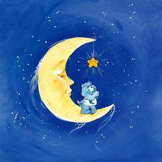 ~Bedtime~ making a wish on a star Vintage Cartoon, Cute Cartoon, Care Bear Tattoos, Care Bears Vintage, Sleepy Bear, Cartoon Tattoos, Rainbow Brite, Bear Art, Retro Toys