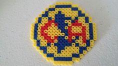 Club deportivo america, perler beads, futbol soccer logo