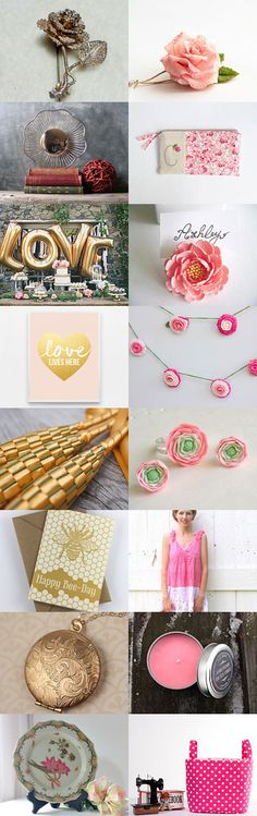Shabby chic spring trends  by Sammy Photo on Etsy--birthday gift bright colors for the home gold handmade handmade gifts homespun society hot shops jewelry for her pink spring trends ten x tenx ginger treasurybox vintage