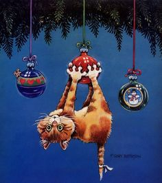 Upside down ornament! Funny Cats by Gary Patterson ~ Love-sepphoras