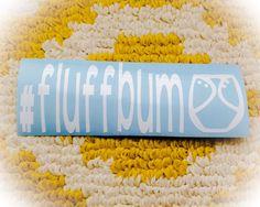 Cloth Diaper Decal // fluffbum // Fluff Bum by WMCreationsShop