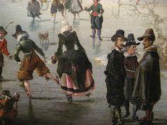 Winter Landscape with Skaters (detail)    oil on panel, 1611  Dutch  Adam Van Breen (c. 1585 - 1640)