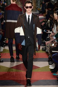 This outerwear is everything. Valentino - Fall 2015 Menswear - Look 7 of 54