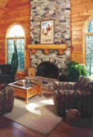 Log Home Fireplaces, Hearths   & Woodstoves