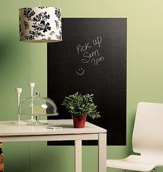 Cute! Love the chalkboard wall sticker.
