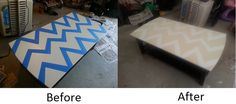 zig zag coffee table