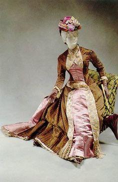 Worth visiting dress, circa 1880