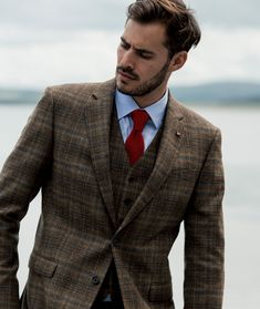 Spending a day at the races? We've got your winning look sorted, with sharp tailoring, subtle tips and luxury fabrics. For a limited time, get a free formal shirt with any seasonal suit in store or online. Races Style, Formal Shirts For Men, Donegal, Weekend Wear, Tweed, Suit Jacket, Fabrics, Style Inspiration, Suits