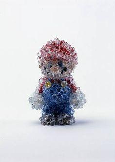 Bubble Mario by Kohei NAWA. #ContemporaryJapaneseArt