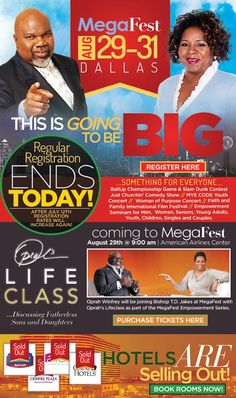 Don't forget...regular registration rates expire after tonight for ‪#‎MegaFest‬ - register now at www.mega-fest.com or 1.800.Bishop.2  Hotels are filling up fast too!