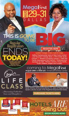 Don't forget...regular registration rates expire after tonight for #MegaFest - register now at www.mega-fest.com or 1.800.Bishop.2  Hotels are filling up fast too!