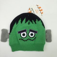 4ab63b2ed6e So Dorable Green Frankenstein Knit Cap Baby 0-6 Months Novelty Hat  Halloween NWT