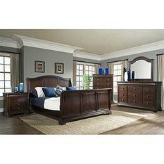 Elements Conley 6 Piece King Sleigh Bedroom Set |