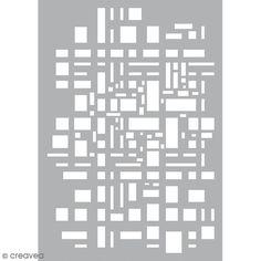 Pochoir Mixed Media - Art Stencil - Géométrique - A4 - Photo n°2