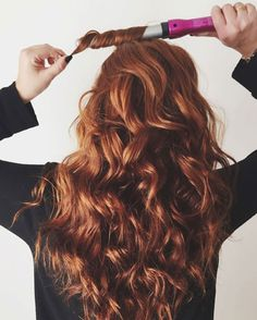Air dry your hair before using a wand to curl your hair instantly.
