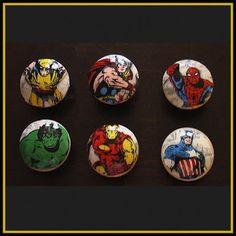 DIY Marvel Avengers Handmade Knobs Drawer Pulls