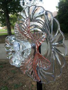 Glass Flower Yard Art