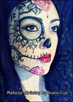 Day of the dead  /  Dia de los muertos Art and makeup by Susie Cue
