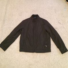 Men's INC Black Jacket NWOT! Never worn, comfy black jacket (it's a windbreaker jacket) with two side pockets. Teal lining INC International Concepts Jackets & Coats Utility Jackets