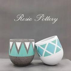 flower pot Cement and ceramic plant pots in Vietnam, planter manufacturer Painted Plant Pots, Ceramic Plant Pots, Painted Flower Pots, Cement Flower Pots, Clay Flowers, Concrete Planters, Diy Planters, Flower Pot Art, Pottery Painting Designs
