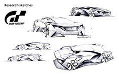 Peugeot Vision Gran Turismo Concept Design Sketches